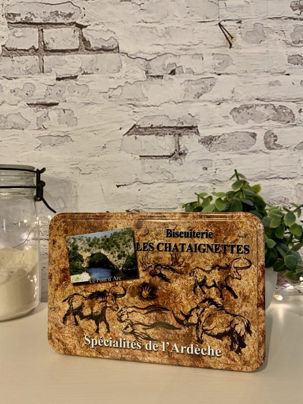 Boîte garnie de galettes nature à la farine de châtaigne