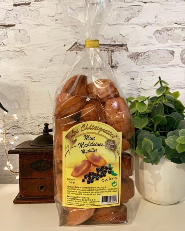 Mini madeleines à la myrtille